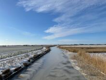 Frozen Canal Around Sneek