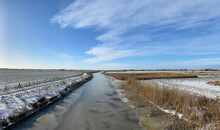 Panorama From A Frozen Canal