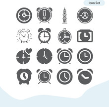 Simple Set Of Big Ben Related Filled Icons.