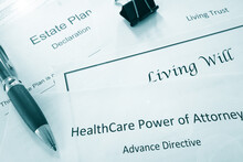 Estate Planning Documents :  Healthcare Power Of Attorney, Living Trust, Living Will