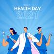 World health day 2021 illustration concept vector