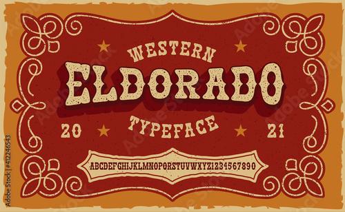 Foto A vintage serif font in western style
