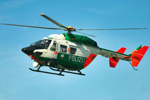 Police Helicopter In Action In The Air