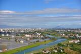 Fototapeta Do pokoju - High Angle View Of Town Against Sky