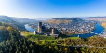 Landshut Castle Ruins Above The Moselle, Bernkastel-Kues, Moselle, Rhineland-Palatinate, Germany,