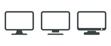 Vector Icon Of A Monitor