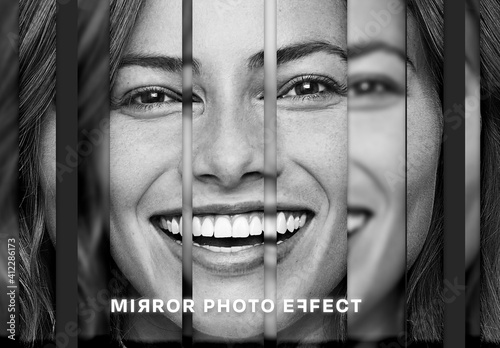 Fototapeta Mirror Photo Effect Mockup obraz