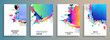 Modern abstract covers set. Abstract shapes composition. Futuristic minimal design. Eps10