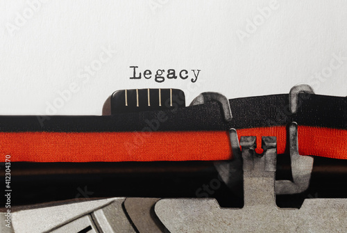 Papel de parede Text Legacy typed on retro typewriter