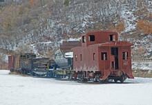 Abandoned Train, Caboose, Deserted, Train Tracks, Snow, Winter, Travel