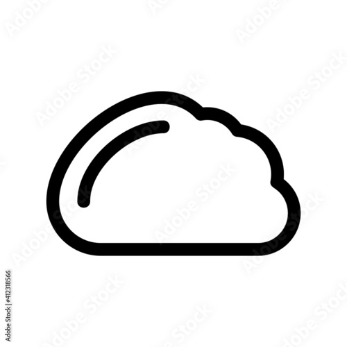 cloud icon or logo isolated sign symbol vector illustration - high-quality black style vector icons  Fotobehang