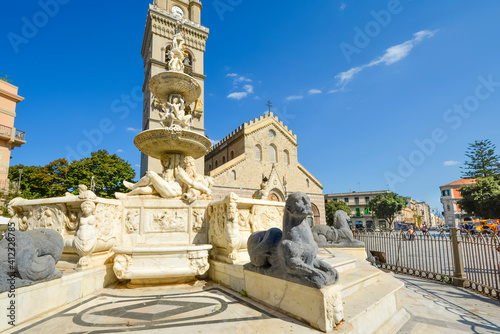 Fotomural Messina Cathedral on the Mediterranean island of Sicily, Italy