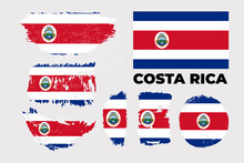 Costa Rica Flag. Official Colors And Proportion Correctly.