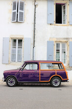 Classic Car In Front Of House In France