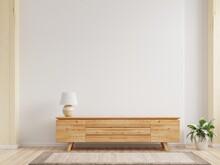 Cabinet TV,Shelf In Modern Empty Room,minimal Design.