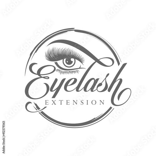 Obraz na plátně Luxury Beauty Eye Lashes Logo Vector Template
