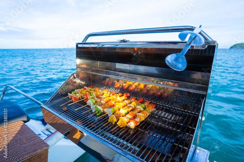 grill shrimp barbecue and seafood sauce Fototapeta