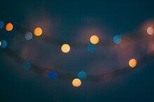 Out Of Focus Christmas Bulb Lights