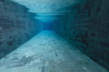 Empty Swimming Pool Underwater