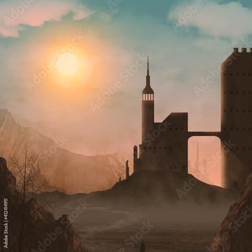 Foto castle at sunset