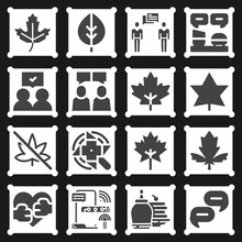 16 Pack Of Tonight  Filled Web Icons Set