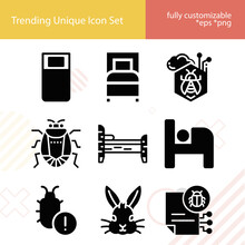 Simple Set Of Bugs Related Filled Icons.