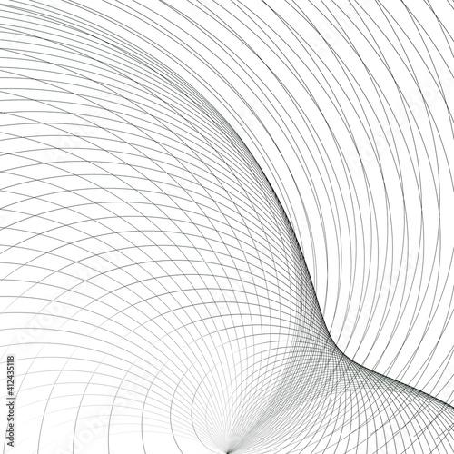 Obraz vector pattern, monochromatic lines texture. geometric pattern on a light background - fototapety do salonu
