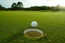 Close-up Of Golf Ball On Field