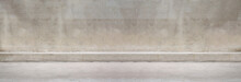 Panorama Walkways And Cement Walls Background For Design In Your Work.