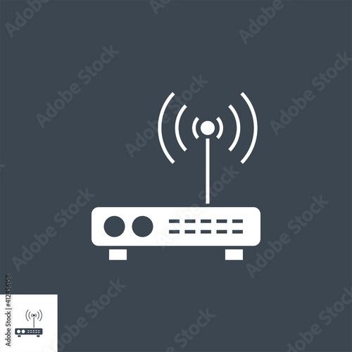 Valokuvatapetti Router related vector glyph icon
