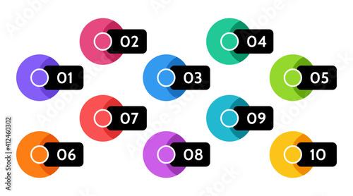 Fotografia, Obraz Bullet points data, info markers