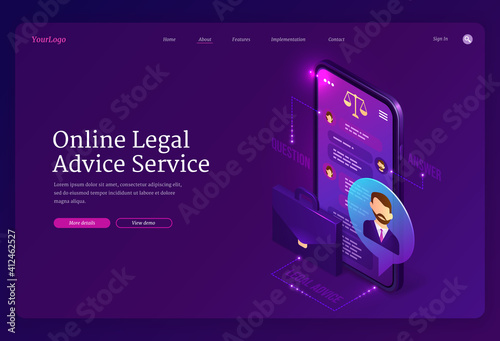 Canvas Print Online legal advice service banner