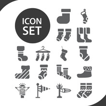 Simple Set Of Geol Related Filled Icons.
