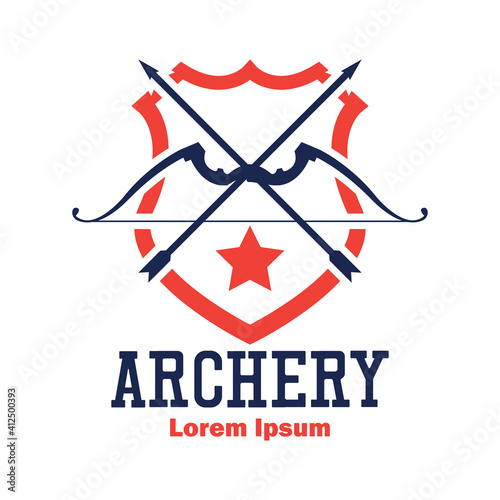 Canvas Print archery logo with text space for your slogan tag line, vector illustration