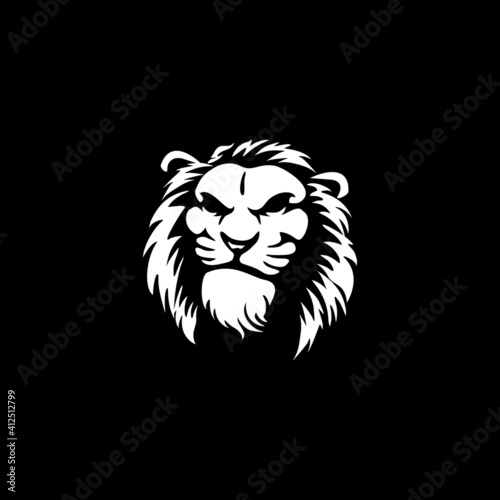 Wild Angry Lion Head Logo Vector Template Illustration Design Mascot Animal Fototapet
