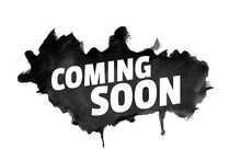 Abstract Grunge Style Coming Soon Background With Black Splatter
