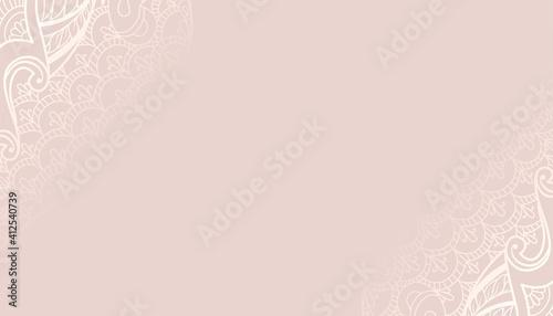 Obraz decorative pastel color background with ethnic design - fototapety do salonu