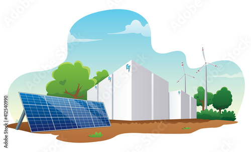 Obraz na plátně Energy Storage Systems