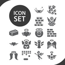Simple Set Of Good Person Related Filled Icons.
