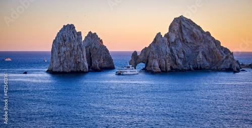 Fototapeta Scenic View Of Sea Against Clear Sky During Sunset obraz