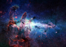 Somewhere In Space Near Pillars Of Creation. Science Fiction. Elements Of This Image Were Furnished By NASA