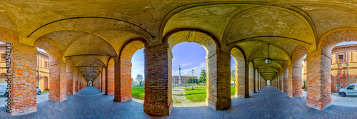 Billede på lærred La Galleria degli Antichi, Sabbioneta, Mantova, Italia