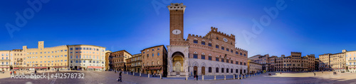 Fotografie, Obraz Piazza del Campo, Siena, Italia