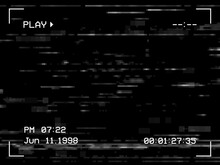 Play Noise And Glitch TV Screen Background, VHS Tape Video Effect, Vector. White Noise On Television Display Or Camera Viewfinder Frame, Digital Pixel Static Error, Glitch Playback Cassette Distortion