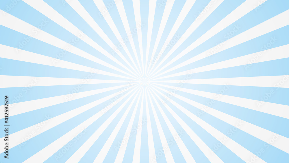 Fototapeta popular white and blue ray starburst sunburst pattern sky cloud background television vintage 16:9 1920 x 1080 for youtube mobile phone