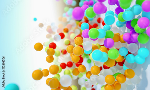 Canvas Print Close-up Of Colorful Balls