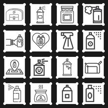 16 Pack Of Played Out  Lineal Web Icons Set