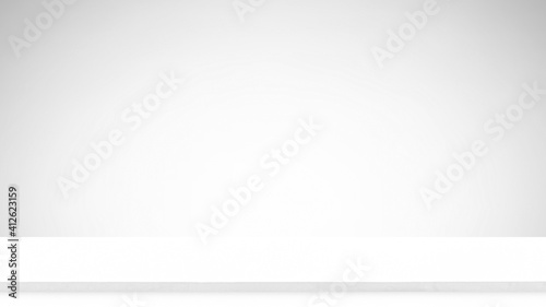 Obraz Marble table with gray background, can use for background and product display - fototapety do salonu