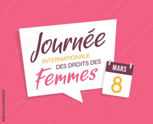 Journée Internationale des droits des Femmes - 8 Mars