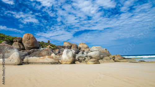 Squeaky Beach in the Whisky Bay, Bass Strait, Wilsons Promontory National Park © jovannig